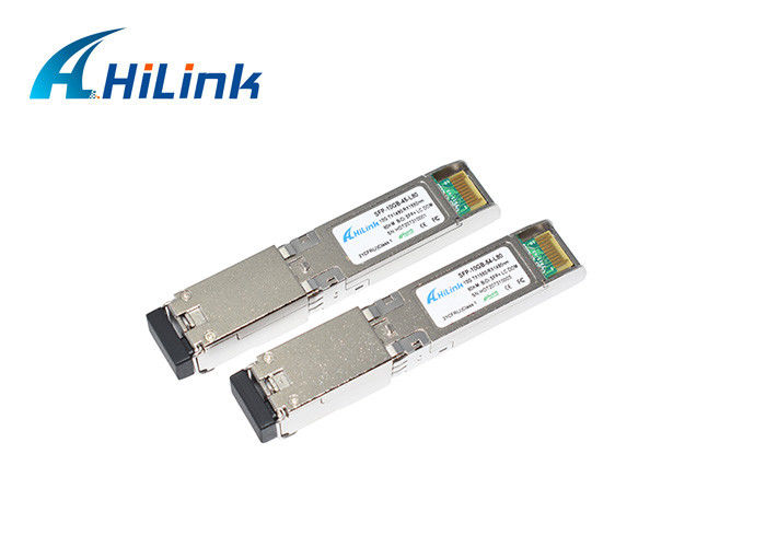 módulo SFP-10G-BX80U do transceptor do ZR 1550nm BIDI do WDM 10G SFP de 80Km